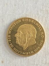 More details for 18ct gold medallion commemorative winston churchill medal