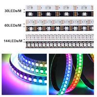 WS2812B 5050 RGB LED Strip 5V 30/60/144LEDs/M WS2812 IC Individual Addressable