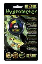 Exo terra hygrometer analog dial reptile snake gecko vivarium terrarium PT2466