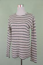 Womens Vtg 90s Casual Wool Blend Retro Mohair Striped Knit Jumper sz S/M H63