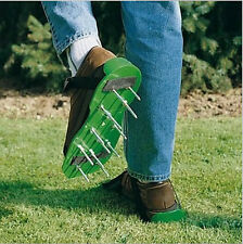 Garden Tool Lawn Grass Aerator Spike Shoes Revitalizing Cultivator Scarification