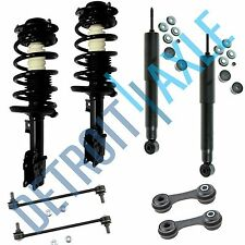 New 8pc Complete Front Quick Strut Assembly and Rear Shocks + Sway Bar End Links