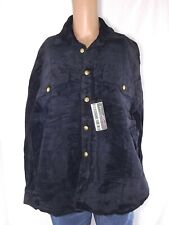 rs giacca pelle uomo blu vintage made italy taglia m medium