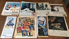 8x original 1940/50s magazine adverts ,household etc lot 1