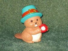 Hallmark Merry Miniature 1994 Beaver with Apple - Thanksgiving - New