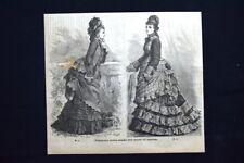 Moda e costume - Figurino della Moda del mese di agosto#3 Incisione del 1875