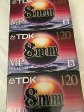 Lot of 3 Sealed TDK 120 MP Premium Cassettes Camcorder