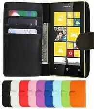 PU Leather Flip Wallet Book  Cover Pouch For Various Nokia Lumia Mobile Phones