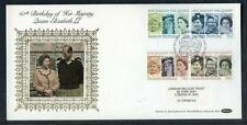 Great Britain 60th Birthday of HM Queen Elisabeth 2nd  silk first day cover #22