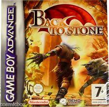 BACK to STONE jeu video de plateforme console Game Boy Advance Nintendo DS NEUF