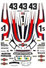 #43 Martini Porsche 935 1978 1/43rd Scale Slot Car Waterslide Decals