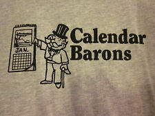 CALENDAR BARONS rock large T shirt Uncle Pennybags tee Monopoly