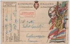 POSTA MILITARE 1918 CARTOLINA IN FRANCHIGIA DEL REGIO ESERCITO DA ALBANIA A PC