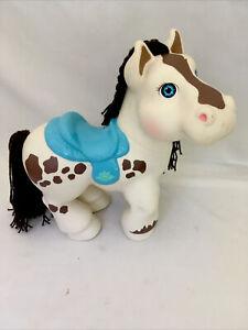 "VTG Cabbage Patch CRIMP 'N CURL 12"" Horse Brown White Pony Teal Saddle 1992 CPK"