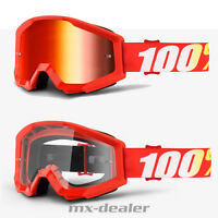 100 % Prozent Brille Strata Furnace rot  Motocross Enduro Downhill Cross Quad