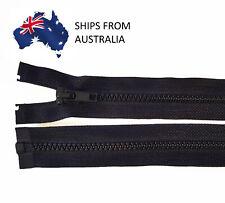 60cm #5 Vislon Zipper - BLACK - Open End