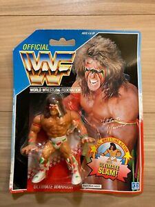 WWF WWE Wrestling Hasbro Official Ultimate Warrior 1991 US Blue Card Rare Unused