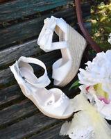 LIZ LISA - Cross strap wedge sandals
