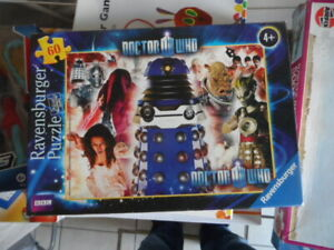 DOCTOR WHO 'ENEMIES' - RAVENSBURGER 60 PIECE, JIGSAW PUZZLE - EASY BUILD, RARE!