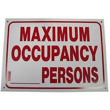 Maximum Occupancy Business Information Policy Sign 10 inch x 14 inch