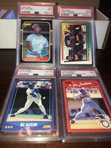 1987 Leaf #35 Bo Jackson PSA 9 Royals + Lot x4 Frank Thomas 1992 1990 1988