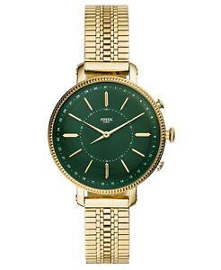 Fossil Tech Cameron Gold-Tone Stainless Steel Bracelet Hybrid Smart Watch 36mm