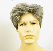 Perruque homme 100% cheveux naturel gris poivre et sel ref BENOIT 44