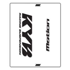 Autoadesivi Adesivi di Forcella KYB Trasparente Nero MO52-0117 Motomike 34