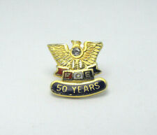 FOE 50 Years Pin Fraternal Order of Eagles Collectable Hat Lapel Pin Tie Tack
