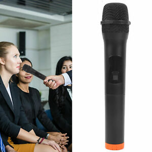 Portable Wireless Microphone Karaoke Metal Hand‑Held Mike for KTV Stage Party