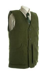 MOLESKIN SHOOTING VEST OLIVE NEW SIZES S/M/L/XL HUNTING CLAYS SHOOTING