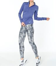 Nike Power Legend Brush Print Training Tights 839088-012 Grey Size M New