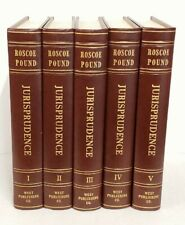 Roscoe Pound JURISPRUDENCE Law 5 volumes SIGNED 1959
