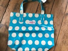 Cath Kidston    Open Carry Bag - Big Spot - Turquoise   BNWT