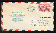 1950 C40 Dedication Fort Clark Ninety Nines Brackettville to Amsterdam NY cover