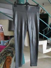 Glamorous Leggings en aspect Metallic Pantalon Femmes Argent NEUF