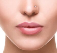 Sterling silver Nose Stud Smallest 1 mm crystal Nose  Ring Ball END  NS-001
