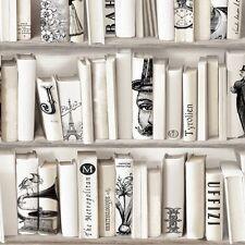 Muriva Encyclopedia Wallpaper 572217 - Bookcase Library Study Book Shelf Case