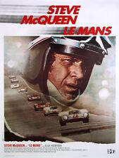 VINTAGE STEVE McQUEEN LE MANS MOVIE FILM POSTER PRINT 48x36 BIG