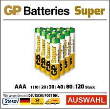 GP Super Alkaline Batteries AAA Micro LR03 Selection 1-120 Piece