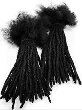 "100% Human Hair Dreadlocks Extensions Handmade Medium 1/4"" Width 10 Per Bundle"
