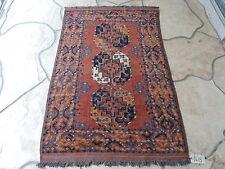 3x5ft. Handmade Afghan Ersari Bokharra Wool Rug