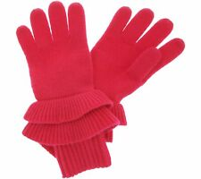 New listing Isaac Mizrahi Live! 2-Ply Cashmere Ruffle Gloves (Pink, L/Xl) A343878