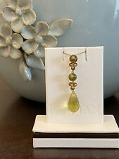 LeVian Green Apple Peridot Briolette Pendant & Necklace in 14K Gold NWT -Amazing