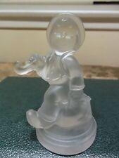 Goebel Clear Boy With Umbrella 1990 Figurine