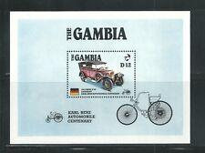 Gambia Scott # 628 MNH S/S Karl Benz Automobile Centenary