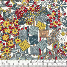 Cotton Fabric FQ Floral African Ethnic Tribe Tribal Abstract Art FabricTime VK15