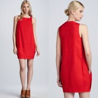 Diane Von Furstenberg Size 4 Red Dallas Pocketed Mini Dress Womens Sleeveless