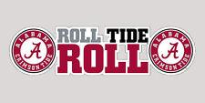 "Alabama Crimson Tide ""Roll Tide Roll"" 6"" Vinyl Decal for Car Truck YETI Cooler"