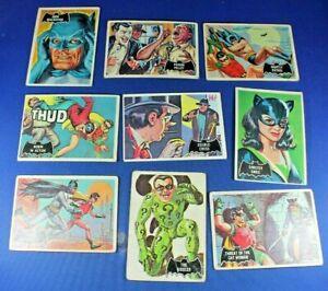 1966 Topps Batman (Black Bat) - 20 Cards - Fair to Good Condition - Some Creases